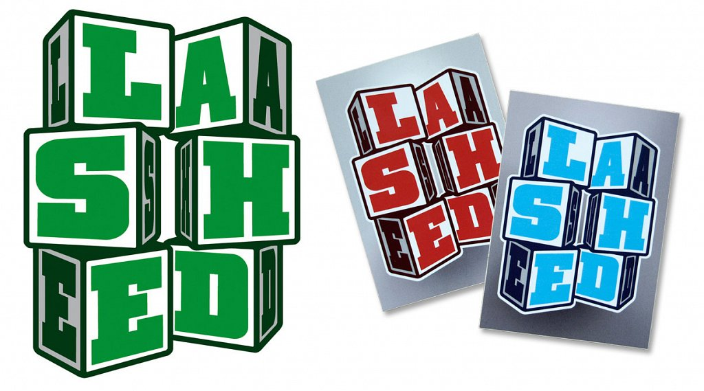 LASHED sticker